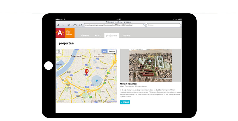 Antwerp mobile sites